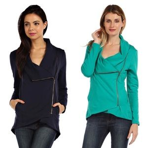 Jackets & Blazers - Asymmetric Zipper Trim Jacket