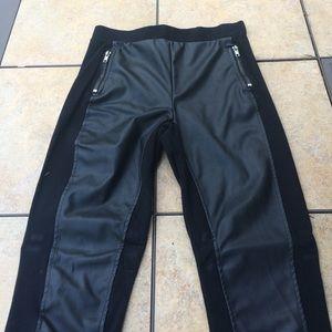 H&M Pants - Faux leather panel leggings.