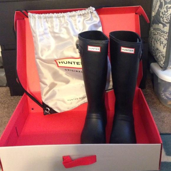 Hunter Tour Packable Rain Boot Black