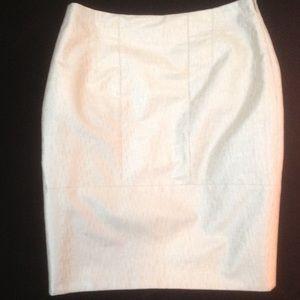 John Galliano Dresses & Skirts - John Galliano Champagne Metallic Silk Skirt