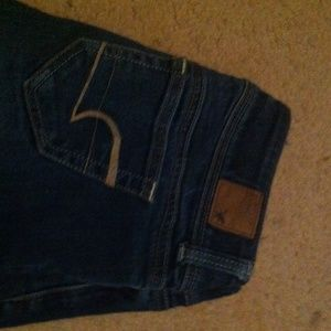 American Eagle Outfitters Denim - Denim stretch jeans cut off to knee , dark