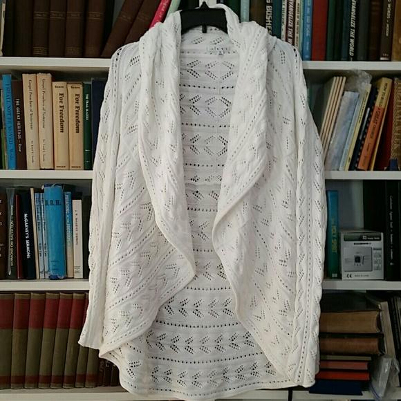 Cabi Sweaters Circle Sweater In White Poshmark