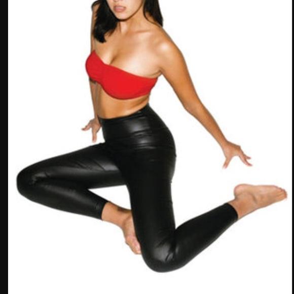 2dc1d67e258f9a American Apparel black faux leather leggings. M_55fdd51951e9eaddf6014bea