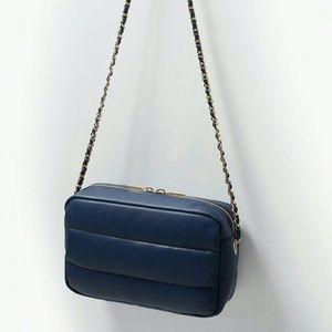 Zara quilted messenger bag