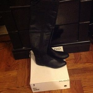 Over the knee Aldo Black Boots