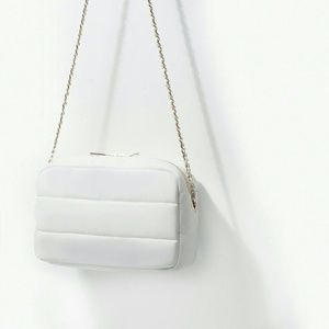 Zara quilted messenger bag (4533)