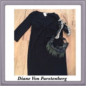 Diane von Furstenberg Dresses & Skirts - Diane von Furstenberg black wool dress.