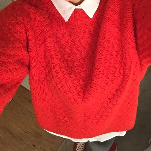 H&M - Thick Red Sweater from H&M from Marina's closet on Poshmark