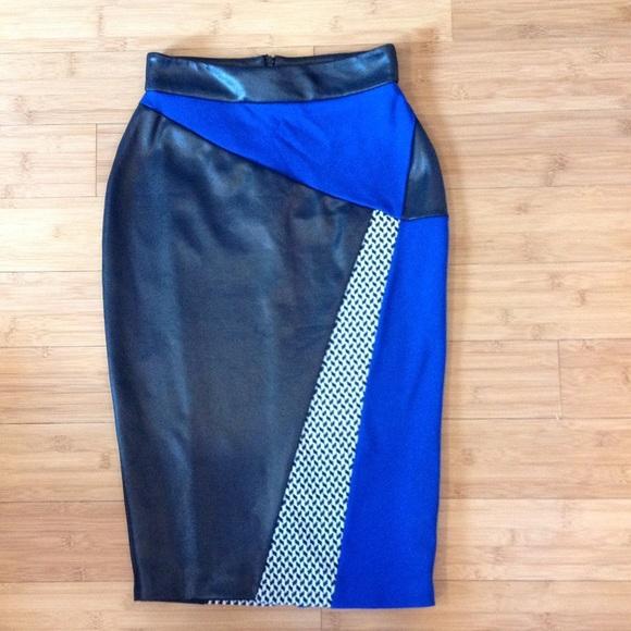 ASOS Skirts - River Island Cobalt Printed Pencil Skirt