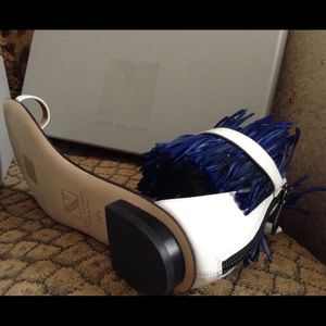Reed Krakoff Shoes - *NIB* Reed Krakoff Blue Ostrich Feather Sandals