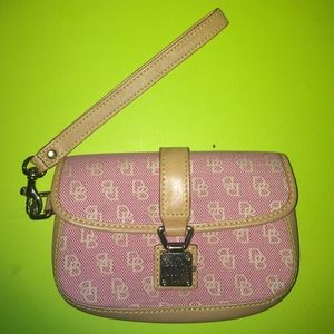 Pink Dooney and Bourke Clutch