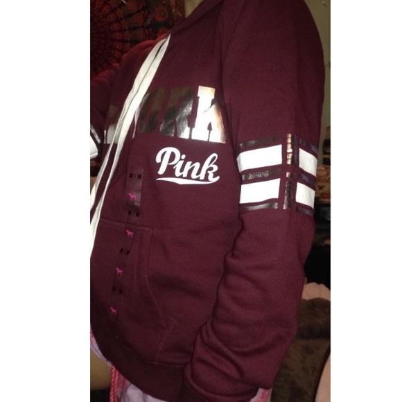 Pink Burgundy Hoodie | Fashion Ql