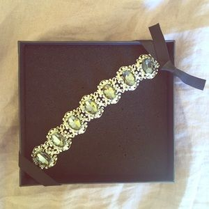 Silver jeweled jewelmint bracelet