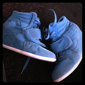 Unknown Shoes - Cute blue wedge sneakers💋