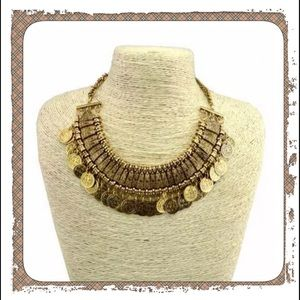 Brand New Gold Boho Coin Choker/Necklace