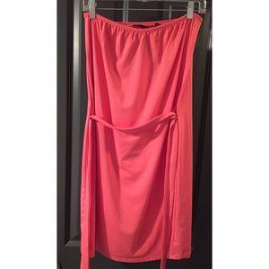 Kensie pink strapless dress