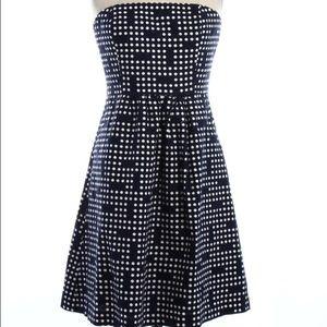 GAP -Blue and White Strapless Dress