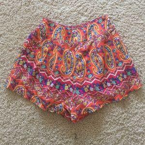 LF floral soft shorts
