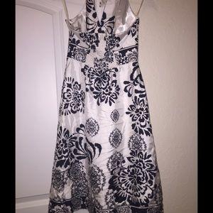 Black and white market Dresses - Black house white market halter dress