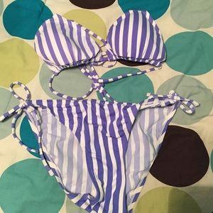 Other - Purple stripped bikini