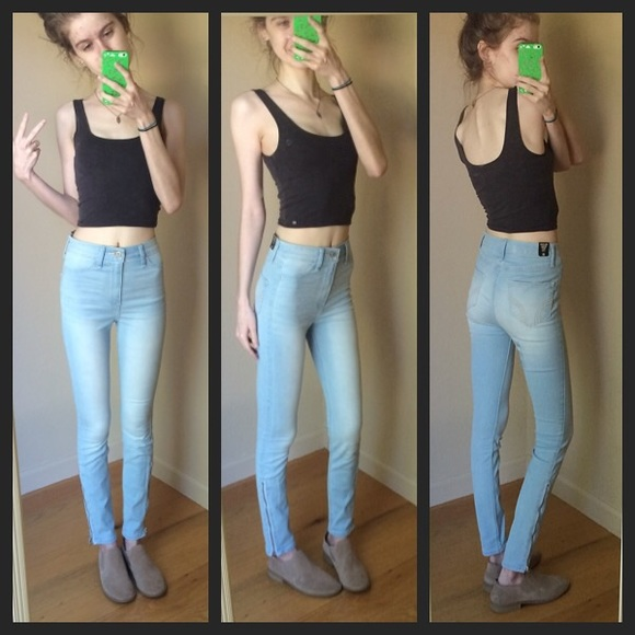70% off Hollister Denim - 😍Hollister High Waist Ankle Zip Jegging ...