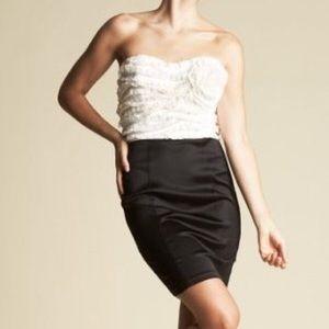 bebe Dresses & Skirts - Bebe Silk Rosette Skirt Dress Size Large