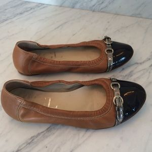 AGL Leather Patent Ballet Flat
