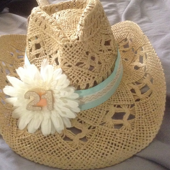Etsy Accessories - Customized 21st birthday cowboy hat d7b73cfe494