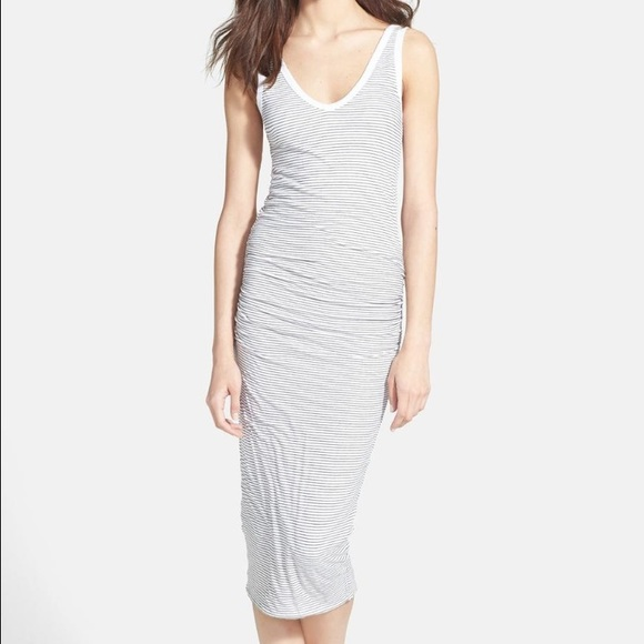 9886be5a25 James Perse Dresses   Skirts - Standard by James Perse stripe ruched tank  dress