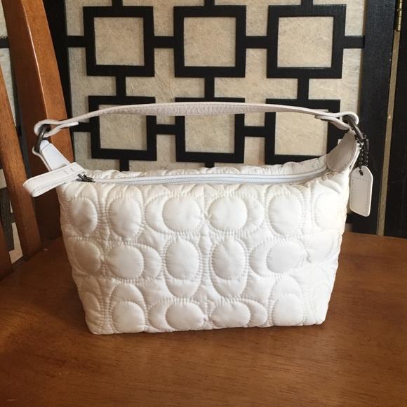 47952ad16a7 Coach Bags   White Quilted Mini Bag   Poshmark