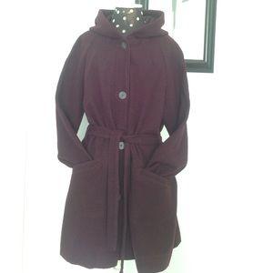 Croft & Barrow Jackets & Blazers - 🎉HP🎉Posh Lovefest🎉Aubergine Wool Trench Coat