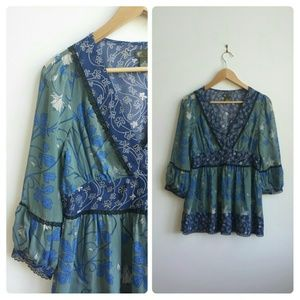 HOST PICK! Anthro Fei Mixed Floral Silk Top