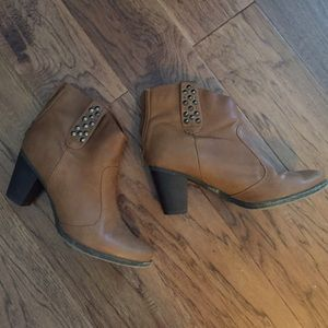 C. Label Shoes - C. Label Brown Studded Booties