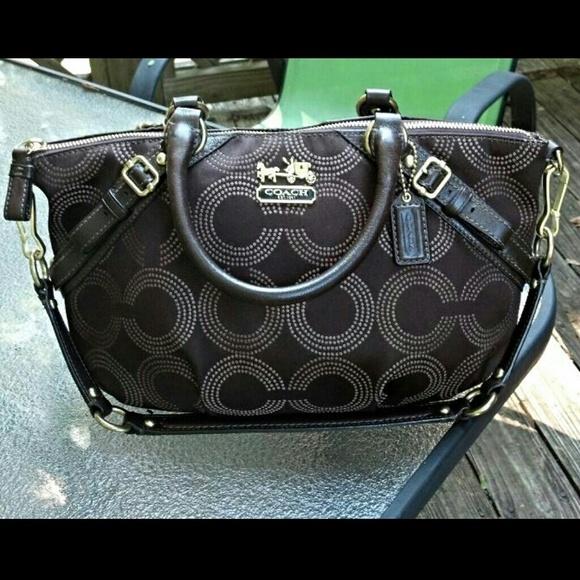Coach Handbags - Authentic Coach Madison Dot Op Art Sophia satchel. 7531c663e5039