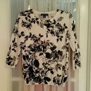 Designers Originals Button Up Floral Sweater