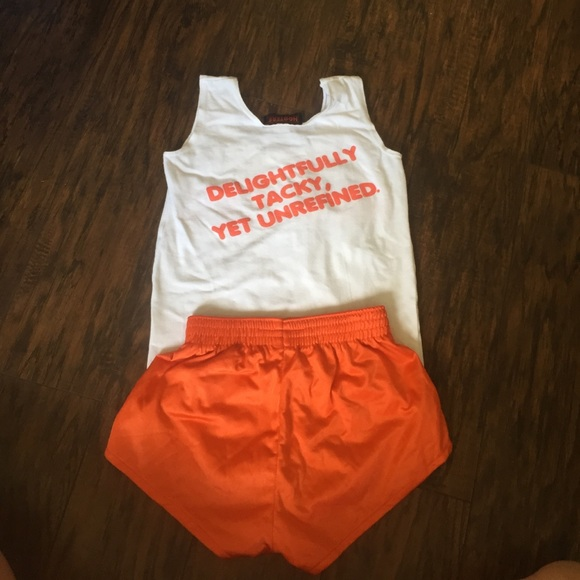 84 off hooters tops  authentic hooters uniform costume
