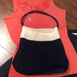 The Sak Handbags - NAVY AND WINTER WHITE BAG BY THE SAK