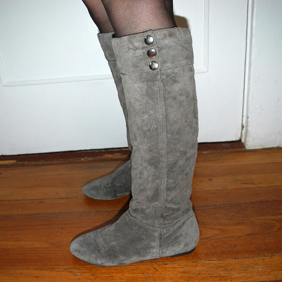 d3925cf1d4 Chinese Laundry Shoes - Chinese Laundry Tahoe Grey Suede Knee High Boots