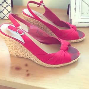 Cute red wedges