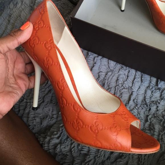 Gucci Shoes - Rare Guccissima Soft Brick Peep Toe Pumps