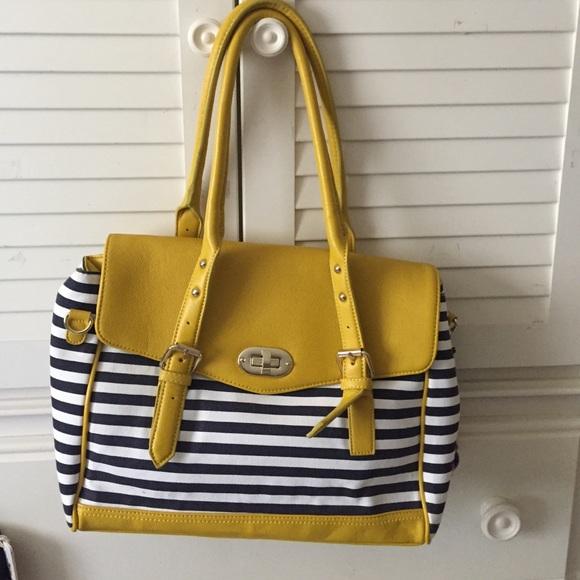 851a1ca9ca1 ALDO Handbags - Yellow blue and white striped bag
