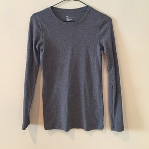 Gap Essential Crew long sleeve grey top