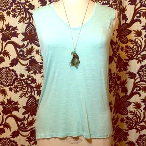 Ambiance Apparel Tops - Take me to Tahiti!  NWOT Breezy mint tank top