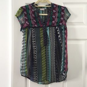 Tops - Tribal print blouse
