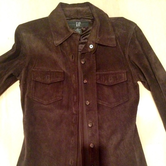 70% off GAP Tops - Gap brown suede shirt / jacket from Amy's ...