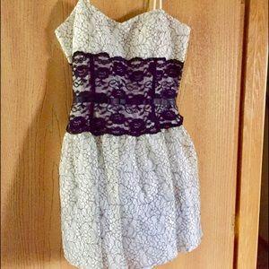Taboo Dresses & Skirts - Lace white/black dress