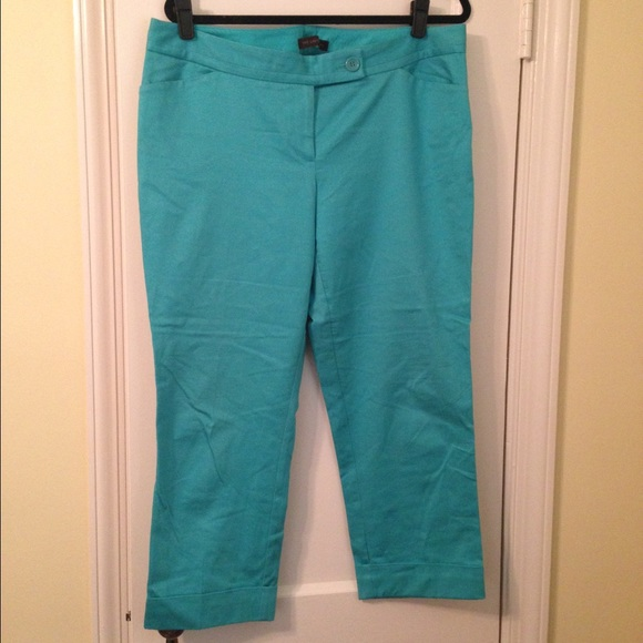 67% off The Limited Pants - The Limited, teal Capri pants size 14 ...