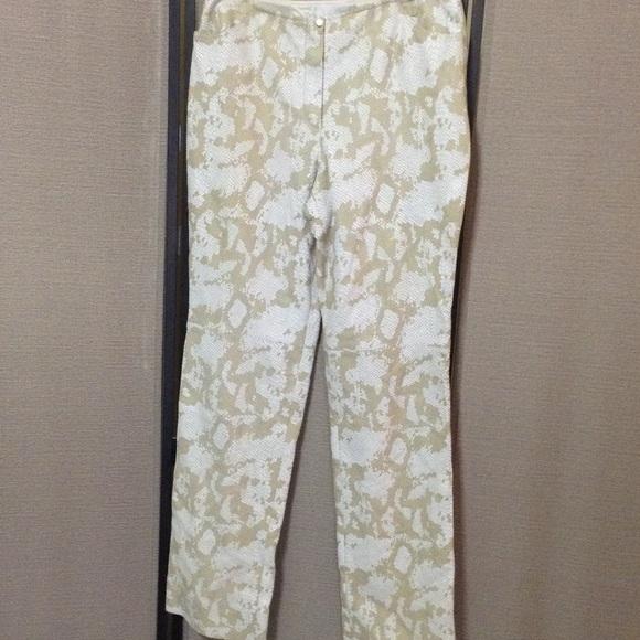 c2c32685ff4f Escada Pants | Lamb Leather Animal Print | Poshmark