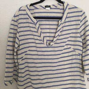 Blue and cream striped J Crew tunic!