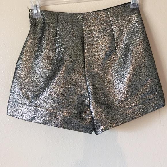 80% off Diane von Furstenberg Pants - DVf high waisted gold shorts ...
